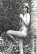 Claire Leaning on Palm Tree, I  (1976)