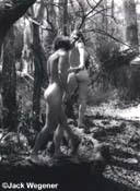 Ginny and Billy Walking on Fallen Tree Trunk  (1979)